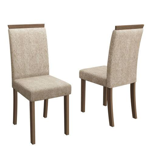 Kit 02 Cadeiras Paloma Para Sala de Jantar 99cm MDF - Megasul