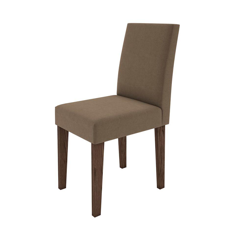 Kit Mesa de Jantar Isabela 100 Cm Quadrada 04 cadeiras e Tampo de Vidro MDF - Megasul
