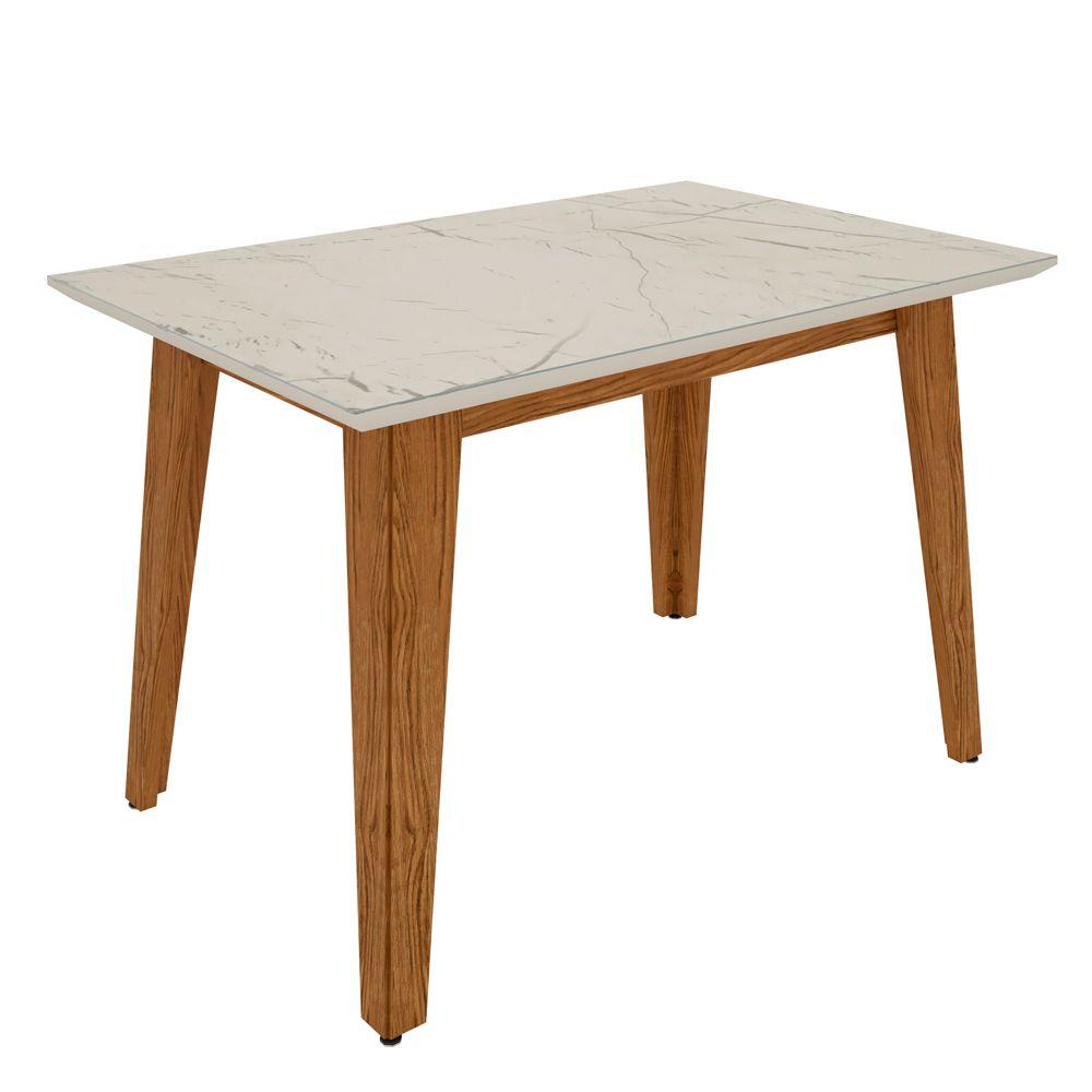 Kit Mesa de Jantar Jade 04 cadeiras 120 cm Tampo de Vidro MDF  - Megasul