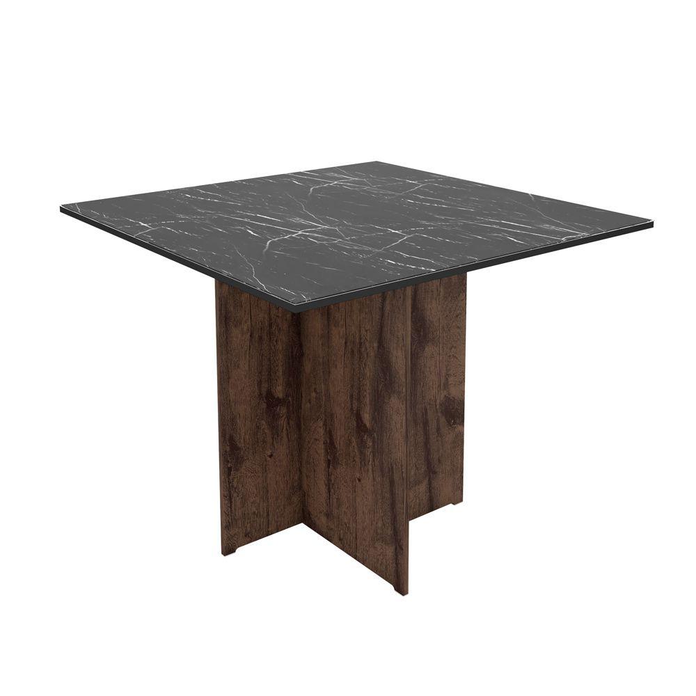 Mesa Para Sala de Jantar Mariana 100cm Quadrada MDF Tampo chanfrado - Megasul
