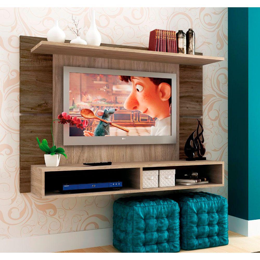 Painel de parede Austin MDP para TV até 48' com 123cm e Nicho Sintra - MegaSul