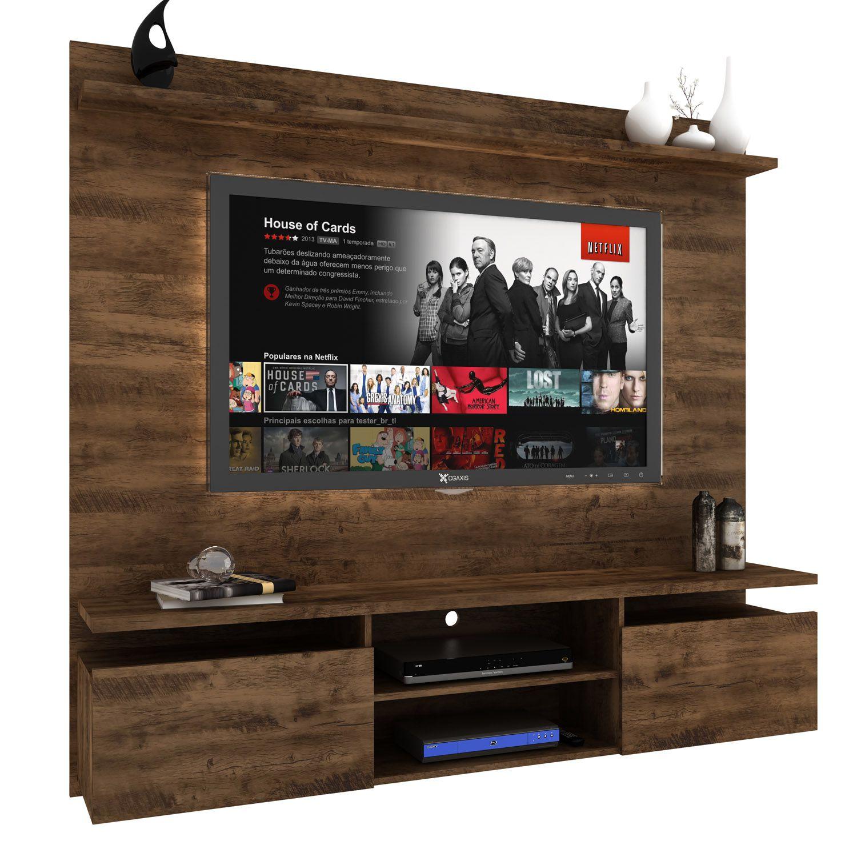 """Painel de parede para TV até 60"""" Home 181 Cm Dallas 2 gavetas - MegaSul"""