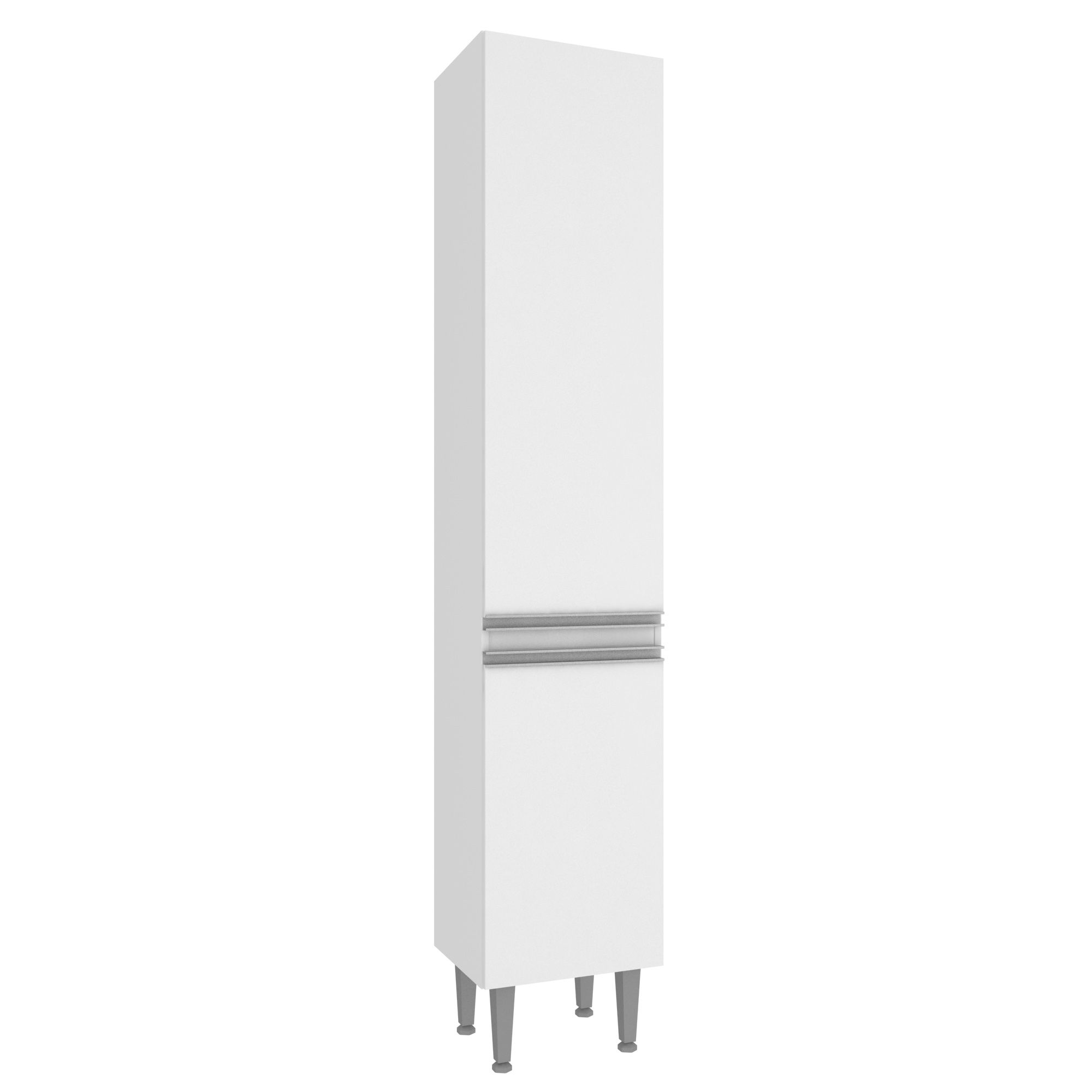 Paneleiro Simples Branco Aretha 2 Portas 3 prateleiras - MegaSul