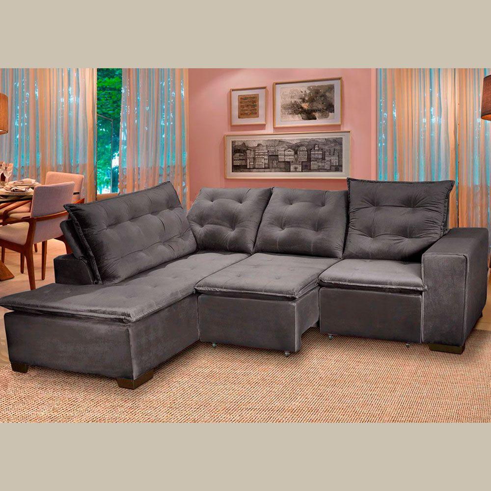 Pleasing Comprar Sofa 5 Lugares Canto 254X212Cm Toronto Retratil E Evergreenethics Interior Chair Design Evergreenethicsorg