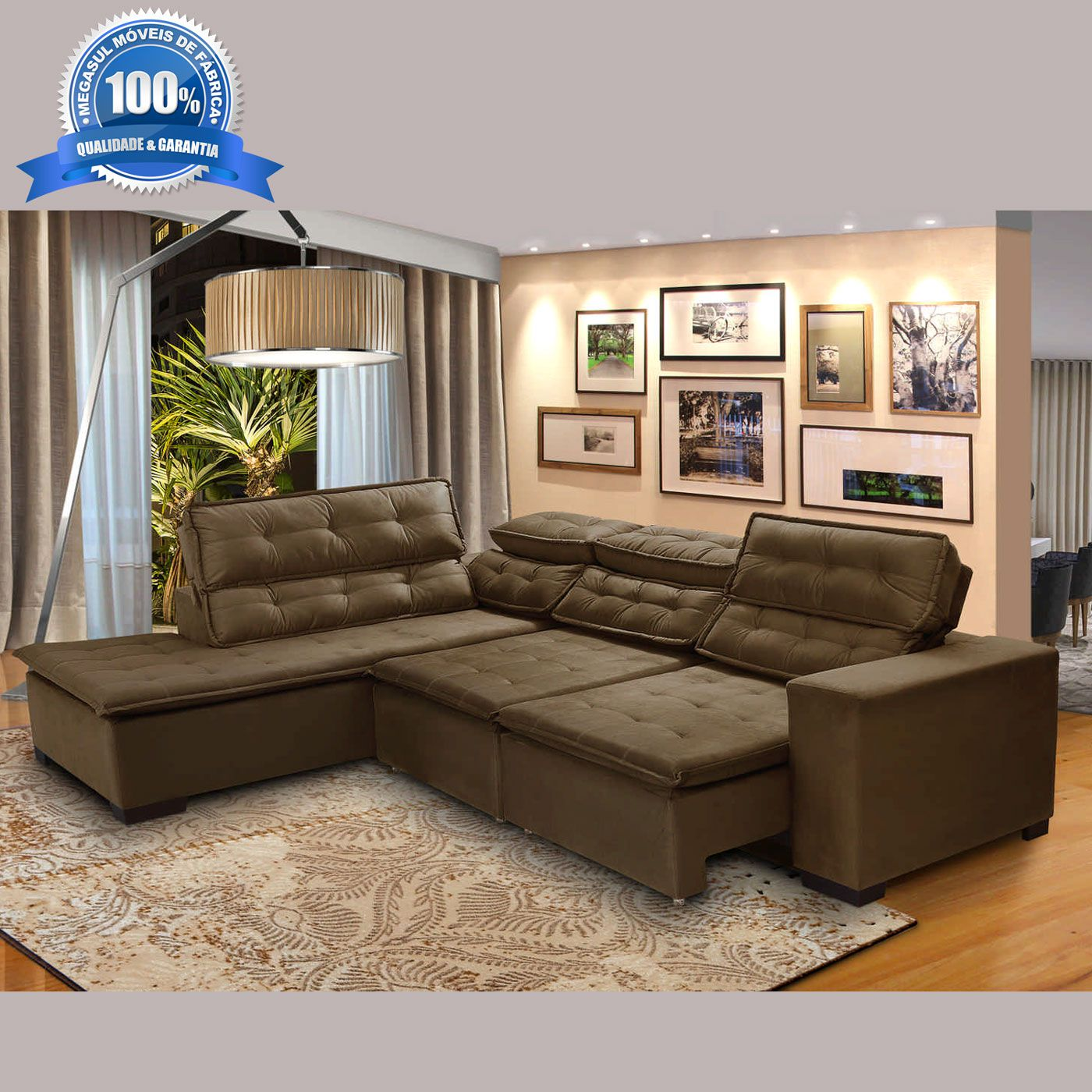 57b1113a6 Sofa De Canto Retratil E Reclinavel 5 Lugares - ViewLetter.CO