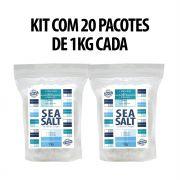 Sal Marinho Grosso In Natura - 20 X 01kg (20 Kg) - Rico em Magnesio