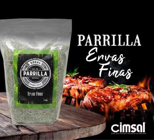 Sal De Parrilla Argentino Ervas Finas - 1kg ( 1 Kg)
