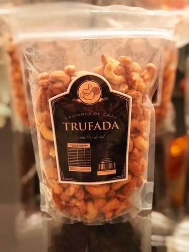 Castanha De Caju Trufada Com Flor De Sal - Trufa Negra