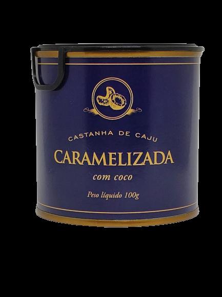 CASTANHA DE CAJU CARAMELIZADA COM COCO E LEITE CONDENSADO - 100G