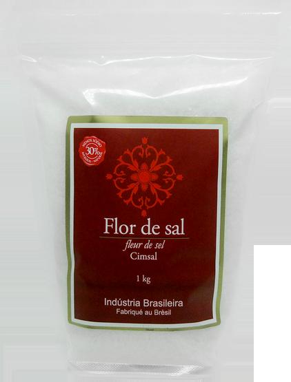 Flor De Sal Cimsal - 10 X 1kg - Rico Em Cálcio