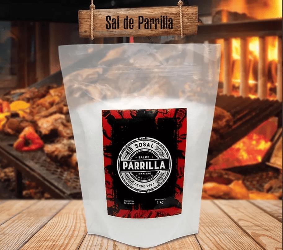 Sal De Parrilla Argentino Entrefino Sosal 20x1kg ( 20 Kg)