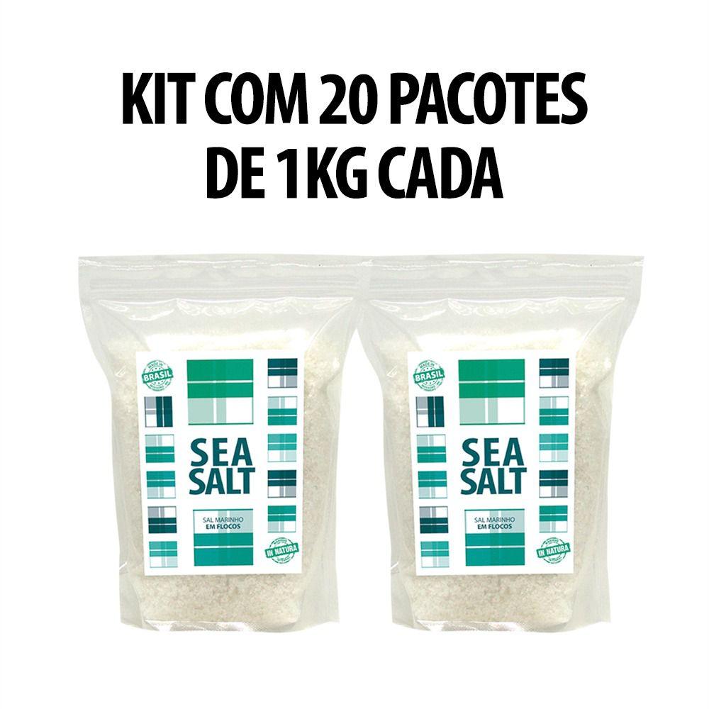 Sal Marinho Em Flocos Mossoró In Natura - 20 X 01kg (20 Kg) - Rico em Magnesio