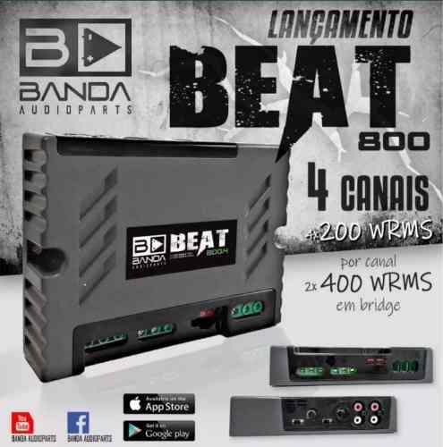 - Módulo Amplificador Banda Audioparts Beat 800.4 800rms 1 Ohm