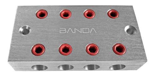 Bloco Distribuidor Banda 4x4 Barramento Fixa Até 70mm (par)