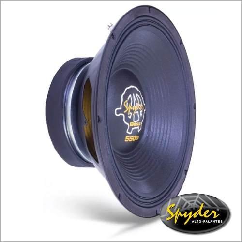 Alto Falante Woofer Spyder Kaos Bass 12 Pol 550 W Rms 8 Ohms
