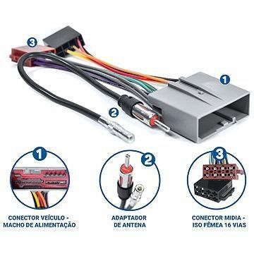 Kit Facil Chicote E Antena Ford Fusion Ecosport Fac Fd-001