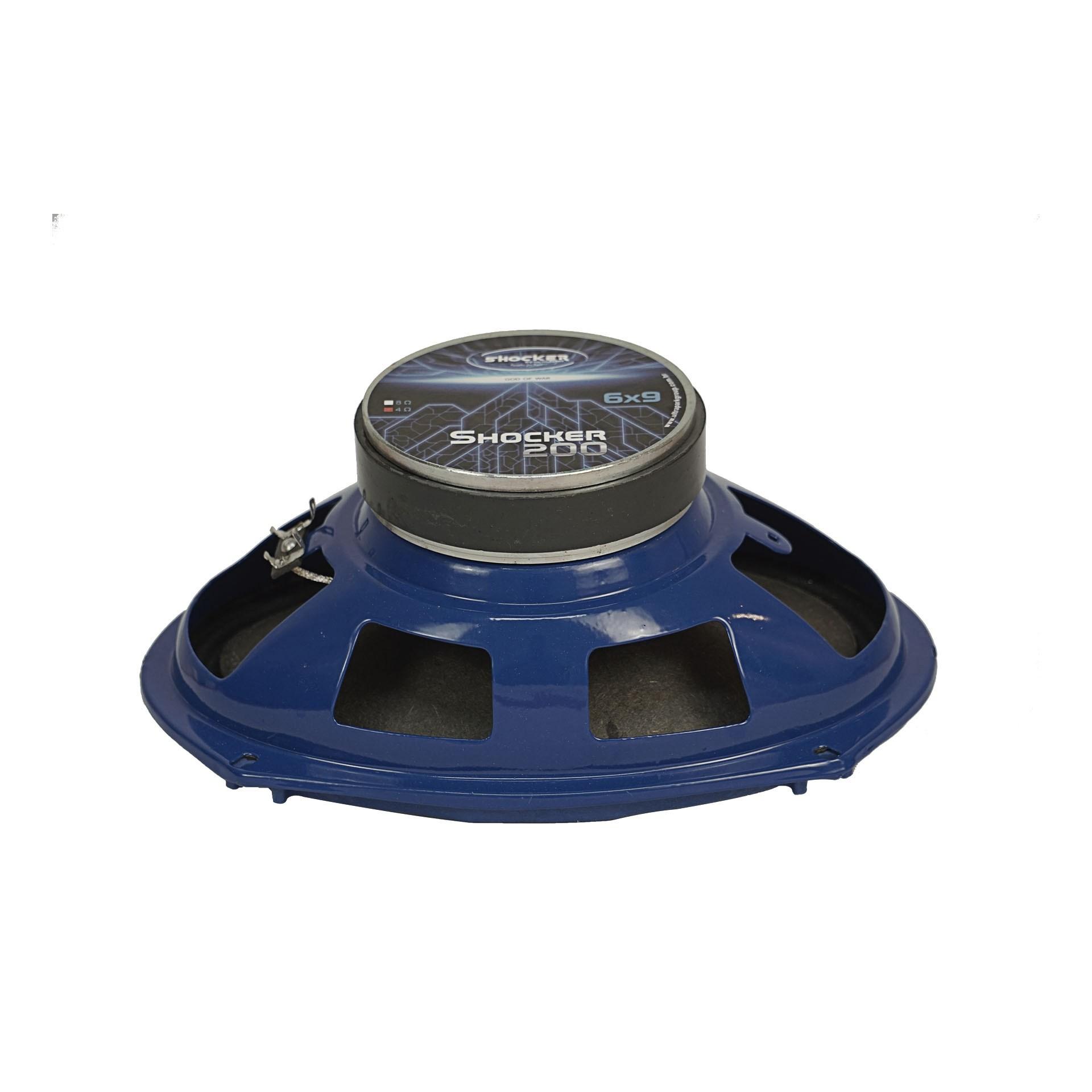 Kit Par Mid Range Shocker Azul 6x9 Polegadas 200 Rms 4 Ohms