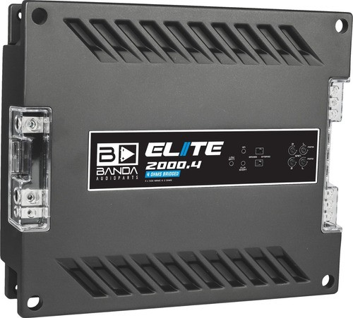 Modulo Banda Elite 2000.4 2000 Rms 4 Canais Bridge 2 Ohms