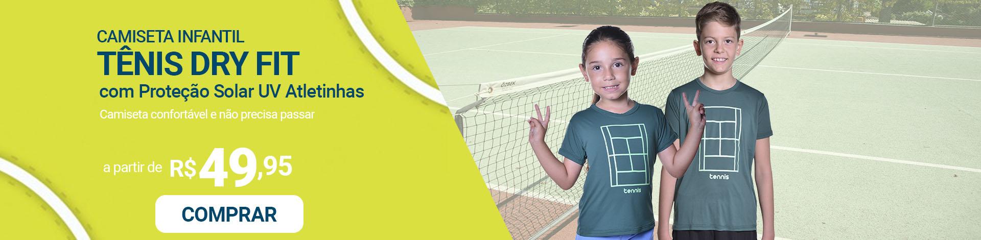 atletinhas - camisetas tenis