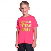 Camisa de Esporte Infantil Unissex Campeão Dry Fit com Proteção Solar UV Atletinhas