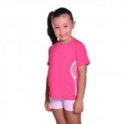 Camiseta de Tenista Infantil Dry Fit com Proteção Solar UV Atletinhas