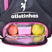 Mochila Infantil para Esportes | Preto com detalhes Pink
