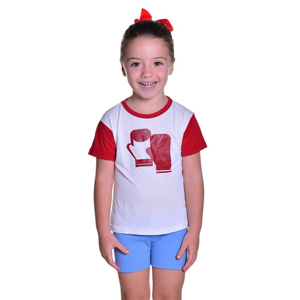 Camisa de Luta Infantil Unissex Boxe Muay Thai Dry Fit com Proteção Solar UV Atletinhas