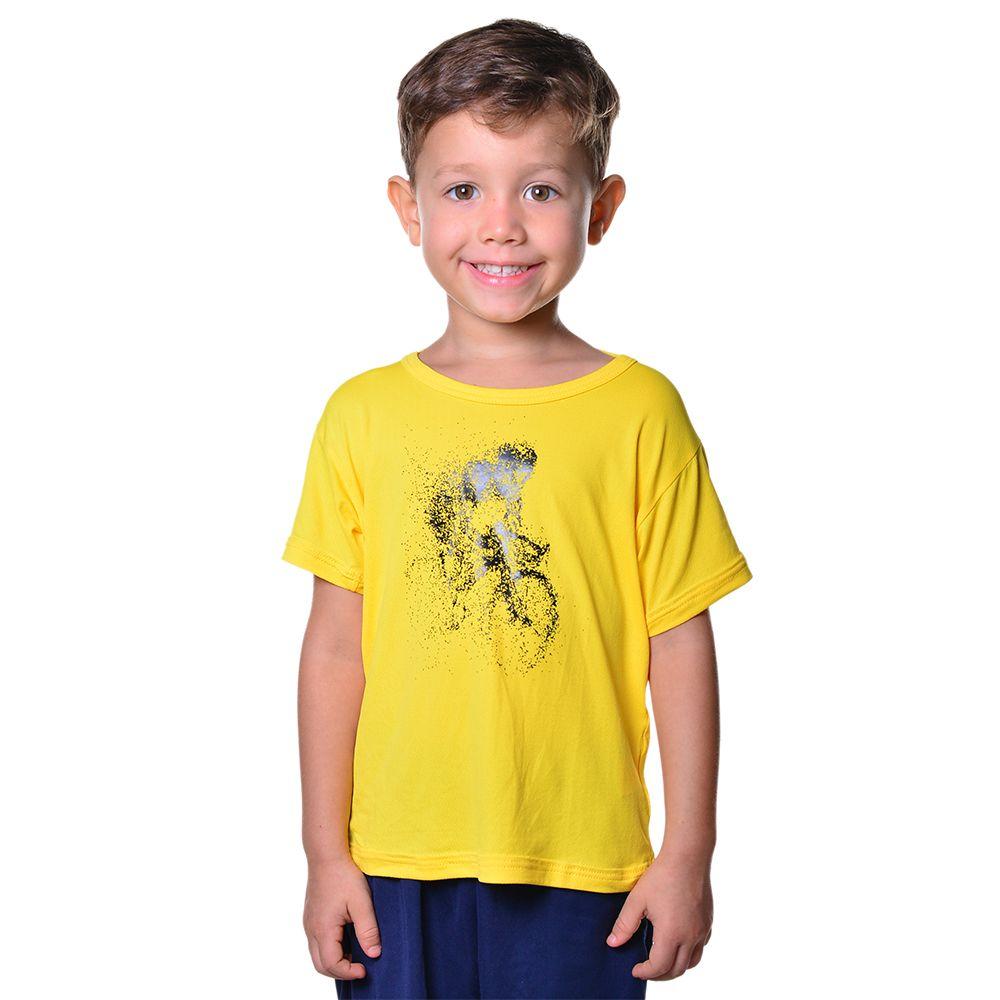 Camisa Ciclismo Infantil Unissex Dry Fit com Proteção Solar UV Atletinhas