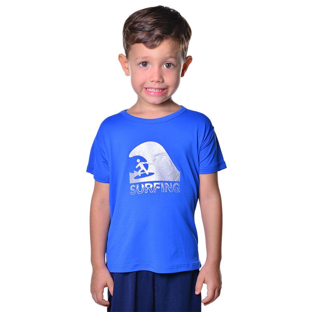 Camisa de Surf Infantil Unissex Dry  Fit com Proteção Solar UV Atletinhas