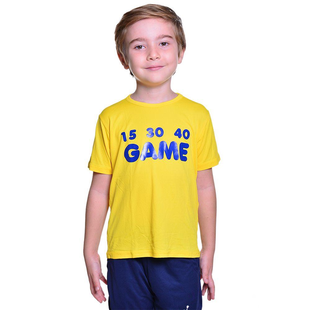 Camiseta de Tenista Infantil Unissex Dry Fit com Proteção Solar UV Atletinhas