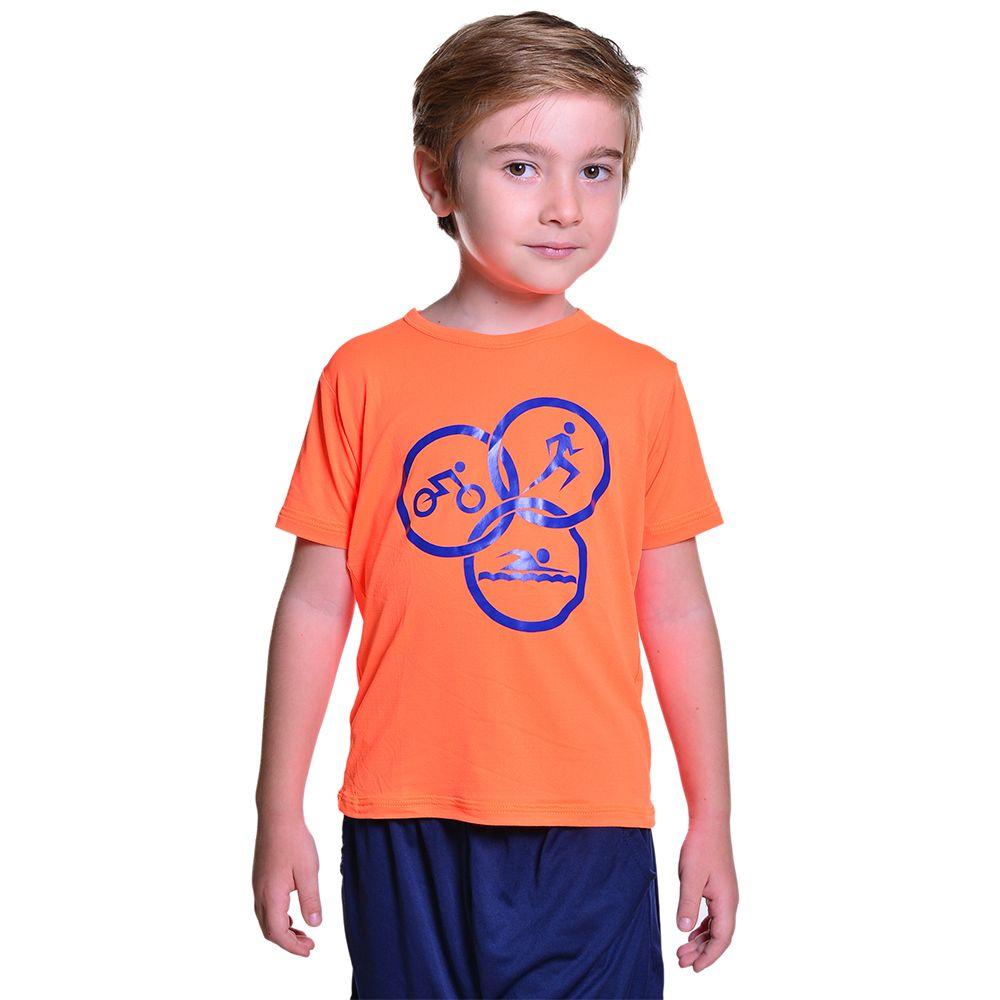 Camiseta para Triathlon Infantil Unissex Dry Fit com Proteção Solar UV Atletinhas
