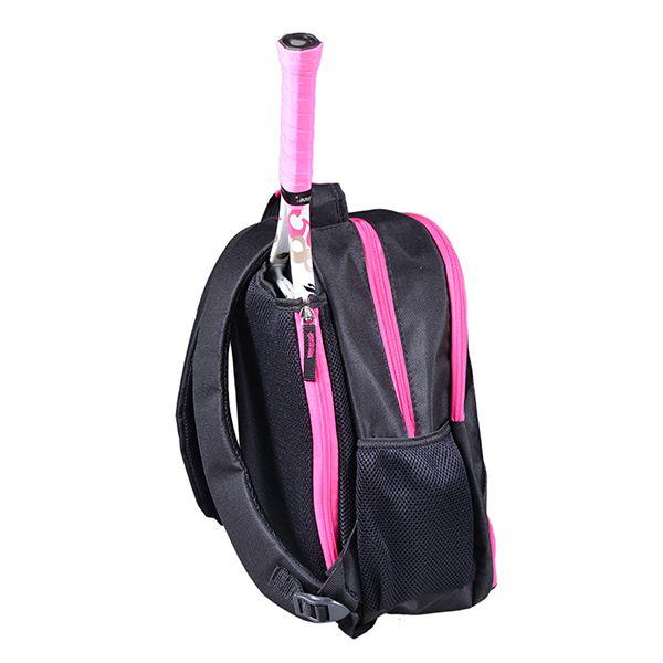 Mochila Infantil para Esportes   Preto com detalhes Pink