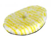 Boina Pirulito Lã SV Listra Amarela Corte Leve/Refino Sem Interface 5,5