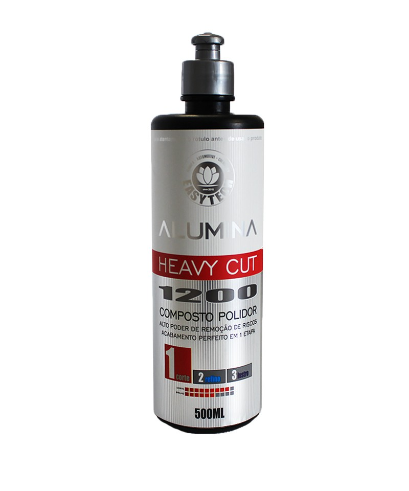 Alumina Heavy Cut 1200 Composto Polidor 500Ml - Easytech  - Dandi Produtos Automotivos