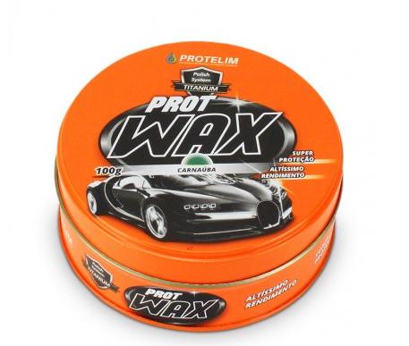 Cera de Carnaúba Prot Wax 100g Protelim   - Dandi Produtos Automotivos