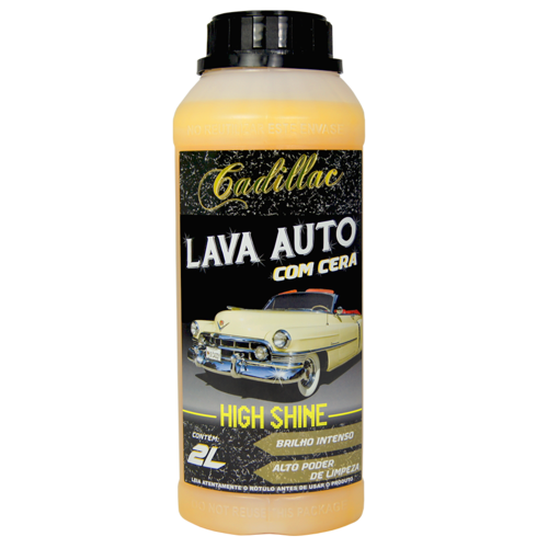 Lava auto Com Cera High Shine Super Concentrado 2L Cadillac  - Dandi Produtos Automotivos
