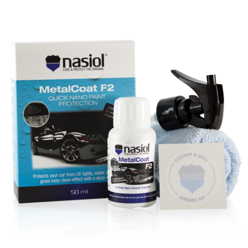 MetalCoat F2 Nano Proteção Para Pintura, Plasticos e Lanternas 50ml NASIOL  - Dandi Produtos Automotivos