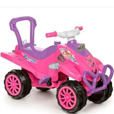 Cross Turbo Calesita Rosa - Carrinho de Passeio Infantil Com Alça de Proteção