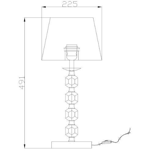 Abajur Vela 1 Lampada Cupula Branca