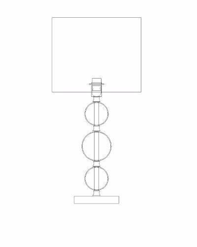 Abajur 1 Lâmpada Cúpula Branca Veneto