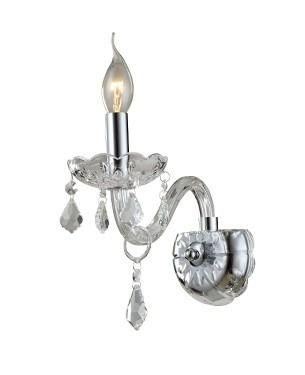 Arandela De Cristal Maria Thereza 1 Lampada Transparente