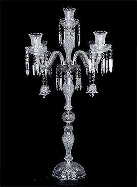 Castiçal De Cristal Baccarat 5 Velas Cs4511-5.000