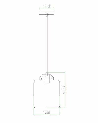 Pendente Glass Ii Transparente Pd3804 1 Lampada