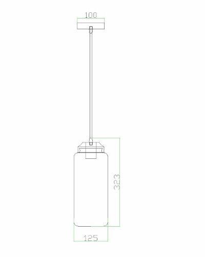 Pendente De Vidro Glass I 1lamp Inclusa Pd3704-1.110