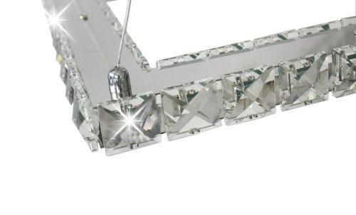 Pendente De Cristal Quadrado Netuno