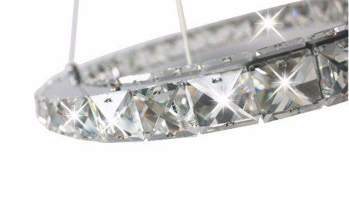 Pendente De Cristal 30 Lâmpadas Com Led Embutido Saturno