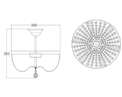 Plafon De Cristal Transparente 5 Lâmpadas Aquila