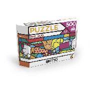 Puzzle 500 Peças Panorama Romero Britto - The Hug - Grow