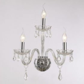 Arandela Maria Thereza 3 Lâmpadas Transparente