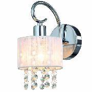 Arandela Cristal Sirius 1 Lampada Cúpula Branca